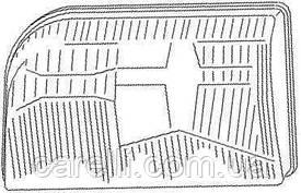 Стекло фары для Mercedes S-class W140 '93-98 правое, рифлен. (MAGNETI MARELLI)
