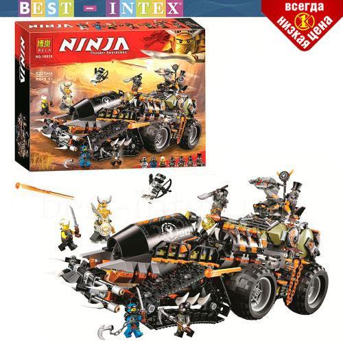 Конструктор Ninja Bela 10939 (аналог Lego Ninjago 70654) Стремительный странник (1221 деталей)