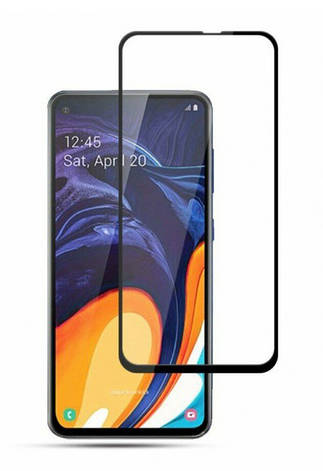 Захисне скло NZY для Samsung Galaxy A60/ M40 Full Glue 5D Чорні рамки (999949), фото 2