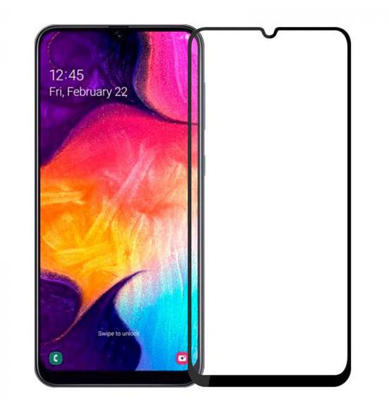 Защитное стекло NZY для Samsung Galaxy A70 Full Glue 5D Черные рамки (999956)