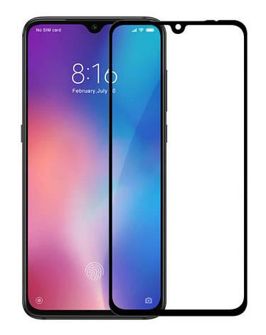 Защитное стекло NZY для Xiaomi Mi 9 Full Glue Черные рамки (999703), фото 2