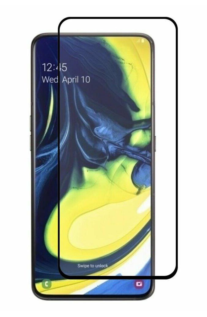 Защитное стекло NZY для Samsung Galaxy A80 Full Glue Черные рамки (999995)