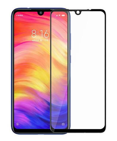 Защитное стекло NZY для Xiaomi Redmi 7 Full Glue Черные рамки (999666), фото 2