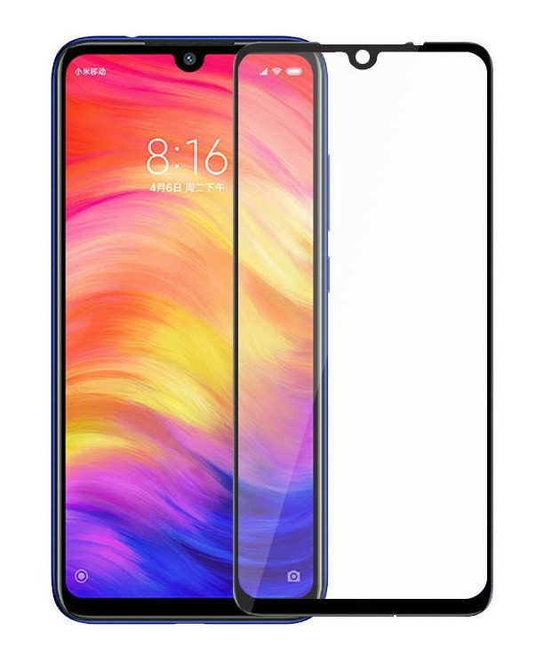 Защитное стекло NZY для Xiaomi Redmi 7 Full Glue Черные рамки (999666)