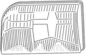 Стекло фары для Mercedes S-class W140 '93-98 правая, рифленый рассеиватель (FPS)