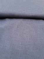 Льняная костюмная ткань серого цвета, фото 1