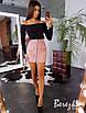 Вельветовая юбка - карандаш с молнией спереди 66wa285E, фото 2