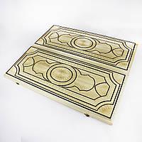 Нарды ручной работы СОБАКА И СМЕРТЬ (60х60 см.), фото 1
