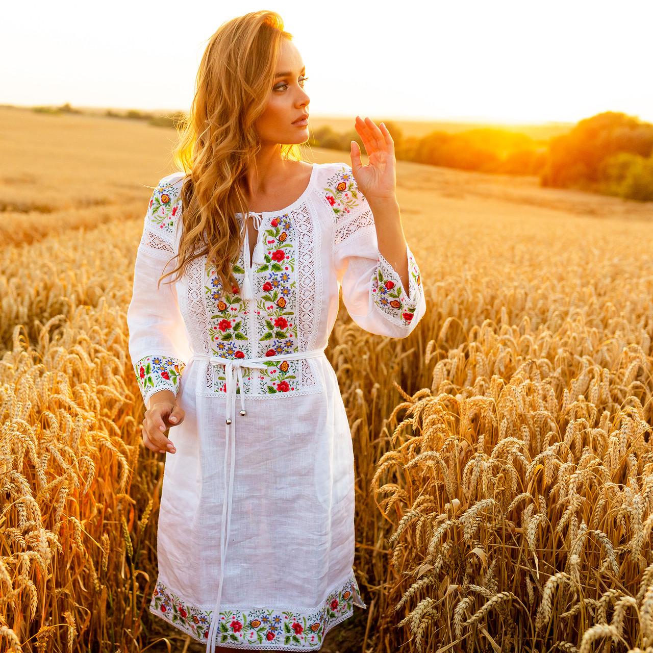 """Платья  с цветочным орнаментом """"Ятрань"""""""
