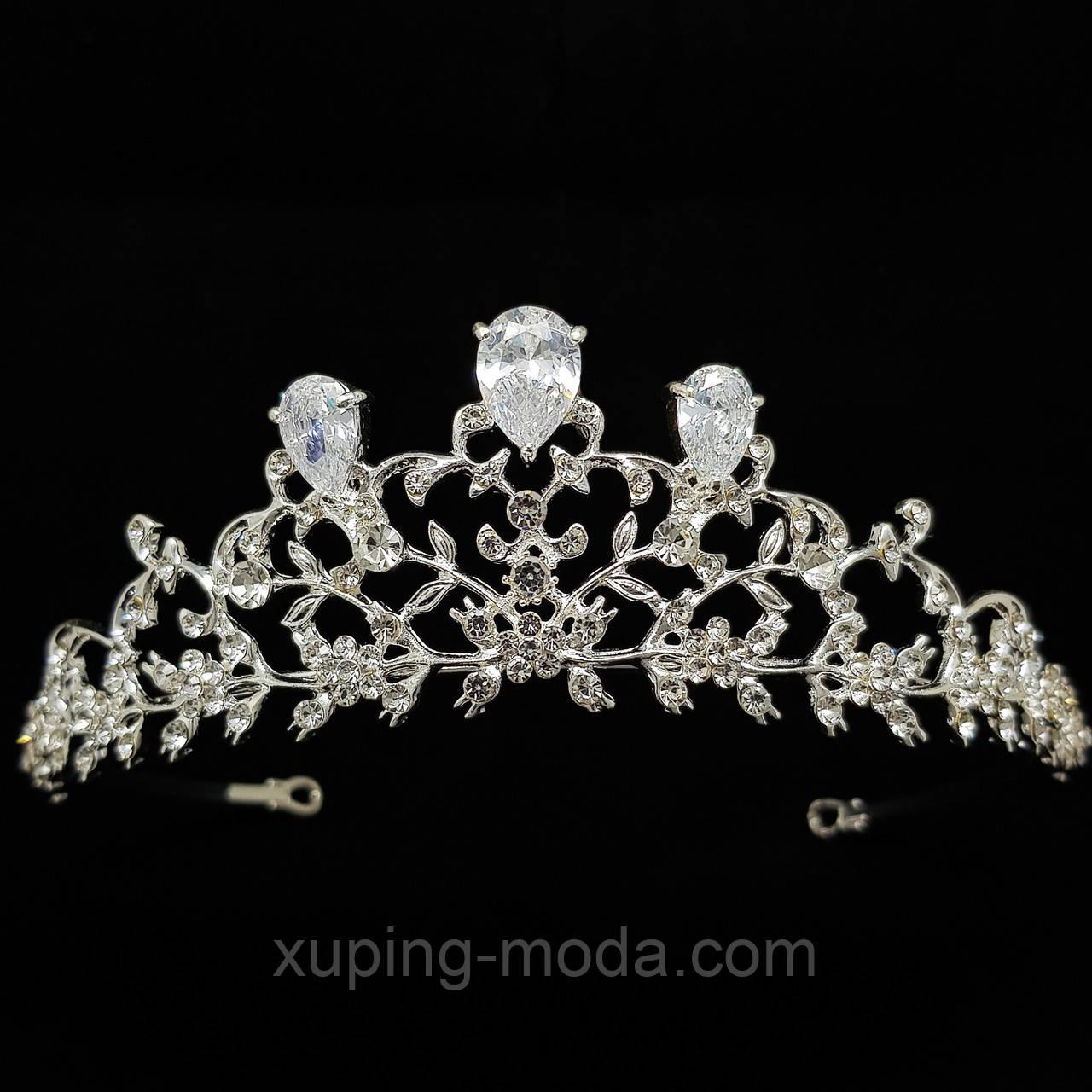 Корона с камнями. Женская корона для волос