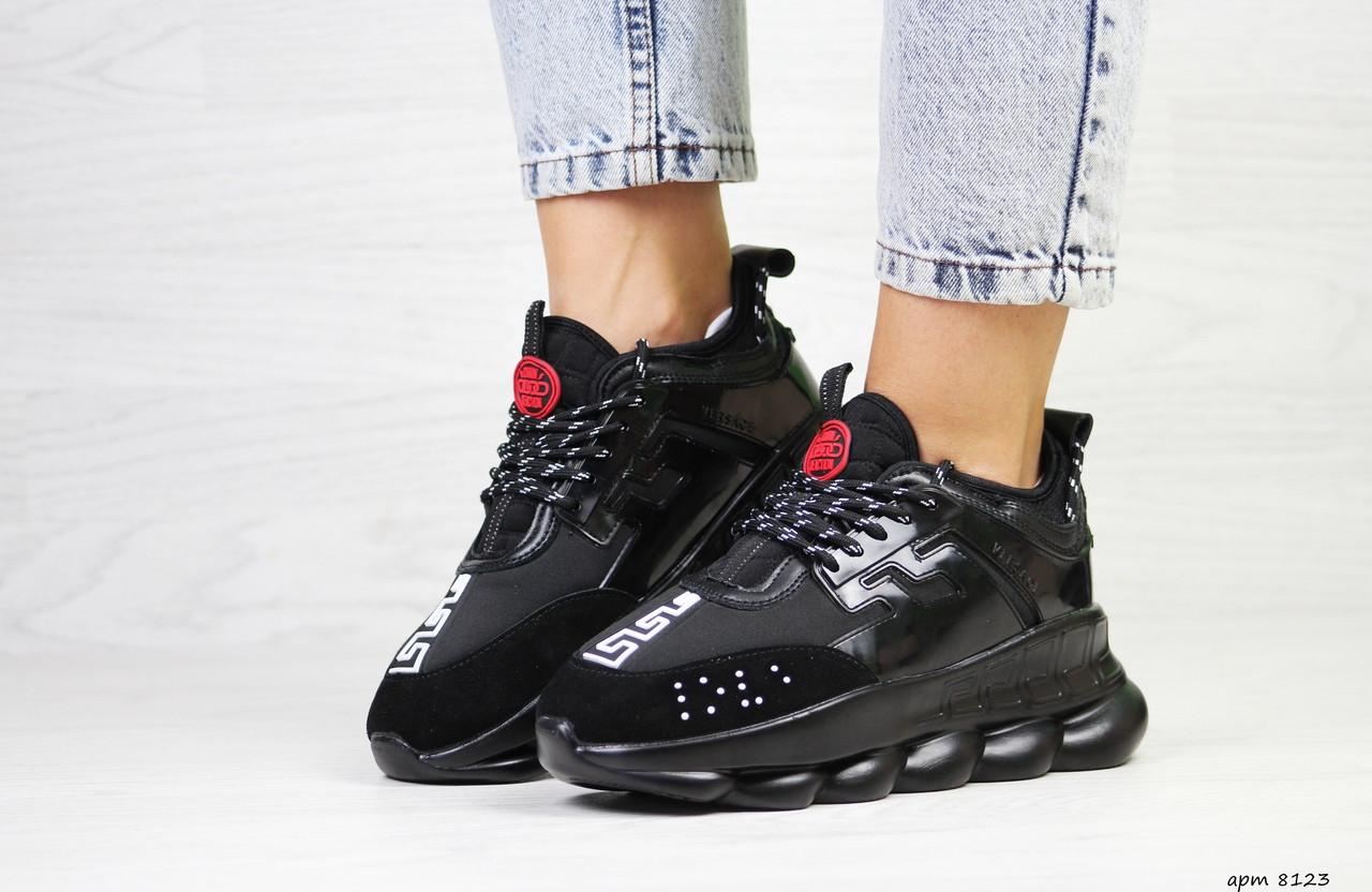 Жіночі кросівки Versace (чорні)
