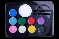 Краски для грима лица и тела, 9 цветов стандарт,  KIDS Line ZB.6570 ZiBi (импорт)