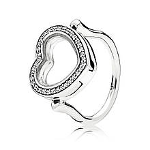 Кольцо с медальоном в форме сердца PANDORA