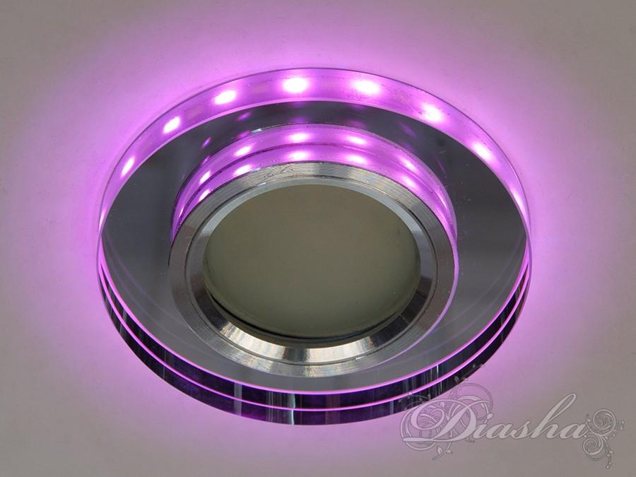Точечный светильник с разноцветной подсветкой 6013WH+PK