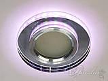 Точечный светильник с разноцветной подсветкой 6013WH+PK, фото 4