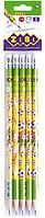 Карандаш графитовый GOAL HB, с ластиком , туба, KIDS Line ZB.2311-5 ZiBi (импорт)