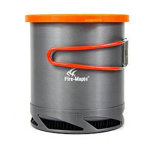Туристический котелок Fire Maple FMC-XK6 на 1 Л с радиатором. Кастрюля с теплообменником.