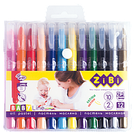 Пастельные карандаши с акварельным эффектом, 12 штук, BABY Line, ZiBi