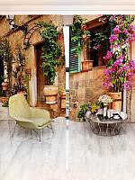 Фотоштора Walldeco Улочка с цветами (5964_1_1)