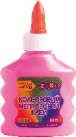 Клей (для слаймов) розовый непрозрачный на PVA-основе, 88мл. ZiBi