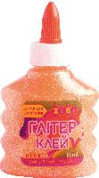 Клей НЕОН ГЛИТТЕР (для слаймов) оранжевый на PVA-основе, прозрачный, 88мл. ZiBi
