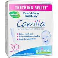 Облегчение боли при прорезывании зубов на травяной основе, 30 жидких доз Boiron, Camilia