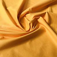 Бязь однотонная желто-оранжевая, ширина 160 см