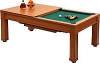 Бильярдный стол для пирамиды ТТ-Бильярд с обеденной крышкой 7Ф