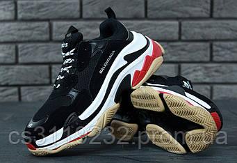 Мужские кроссовки Balenciaga Triple-S (черные)