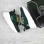 Женские кроссовки Versace (темно-зеленые), фото 6