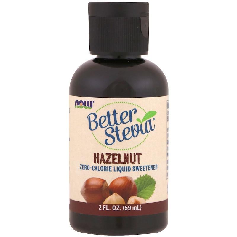 "Рідкий цукрозамінник стевія NOW Foods ""Better Stevia"" смак лісовий горіх (59 мл)"