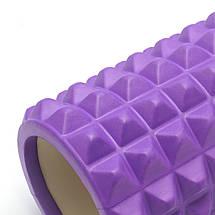 Массажный валик (MS 1843F) / Фиолетовый / 45х14 см. с выемкой, фото 2