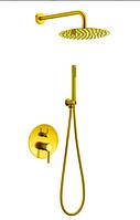 Смеситель встроенный в цвете золота   5-042