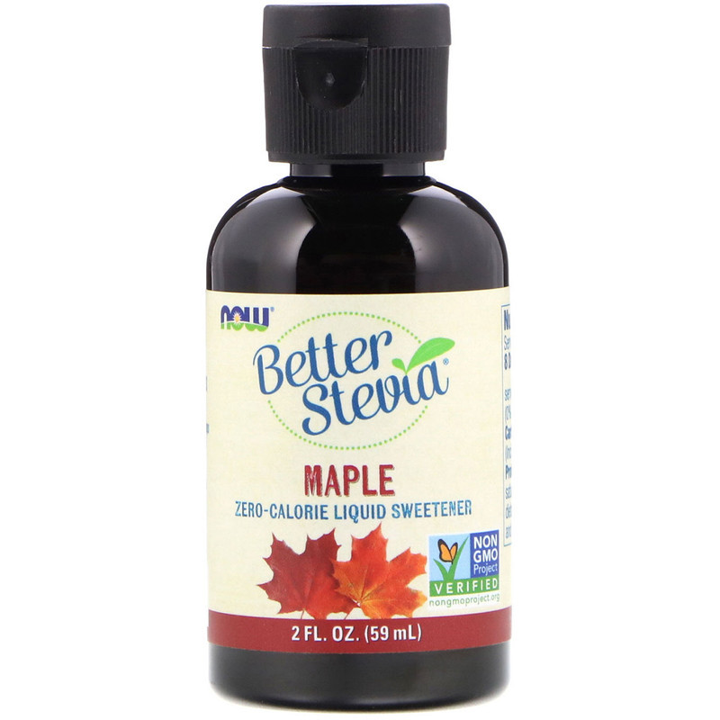 "Рідкий цукрозамінник стевія NOW Foods ""Better Stevia"" кленовий (59 мл)"