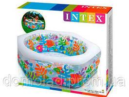 Бассейн Детский Надувной Intex Океанический риф 56493 191х178х61 см