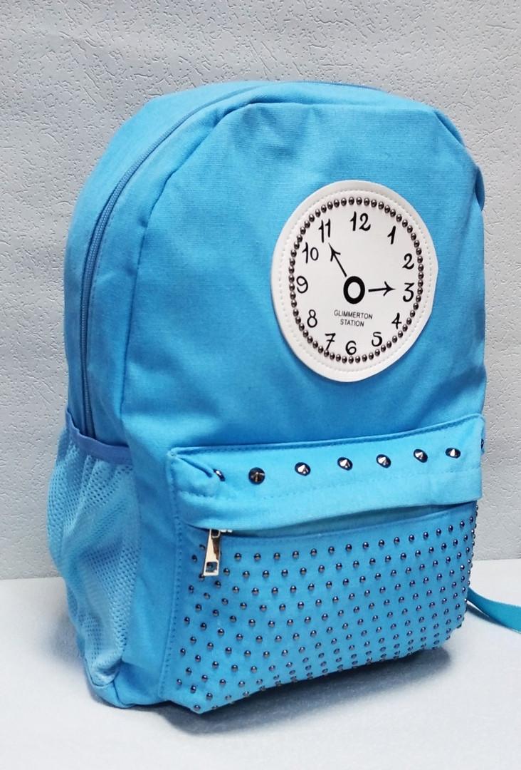 Рюкзак в голубом цвете, полиэстер