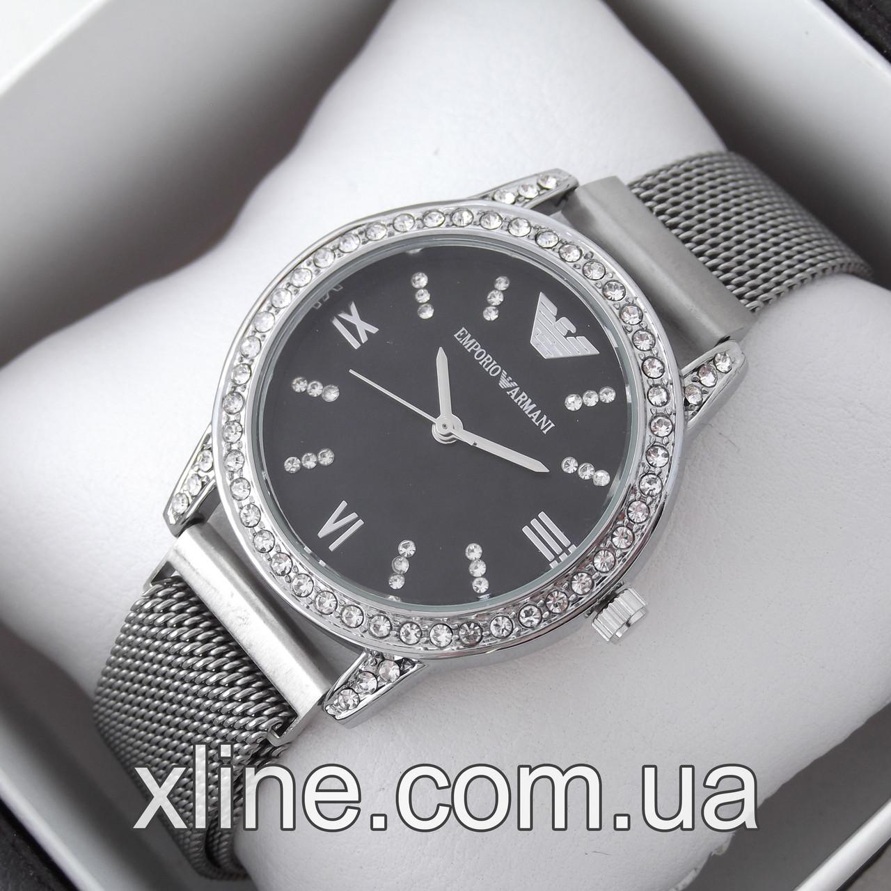 Жіночі наручні годинники Emporio Armani C33 на металевому браслеті
