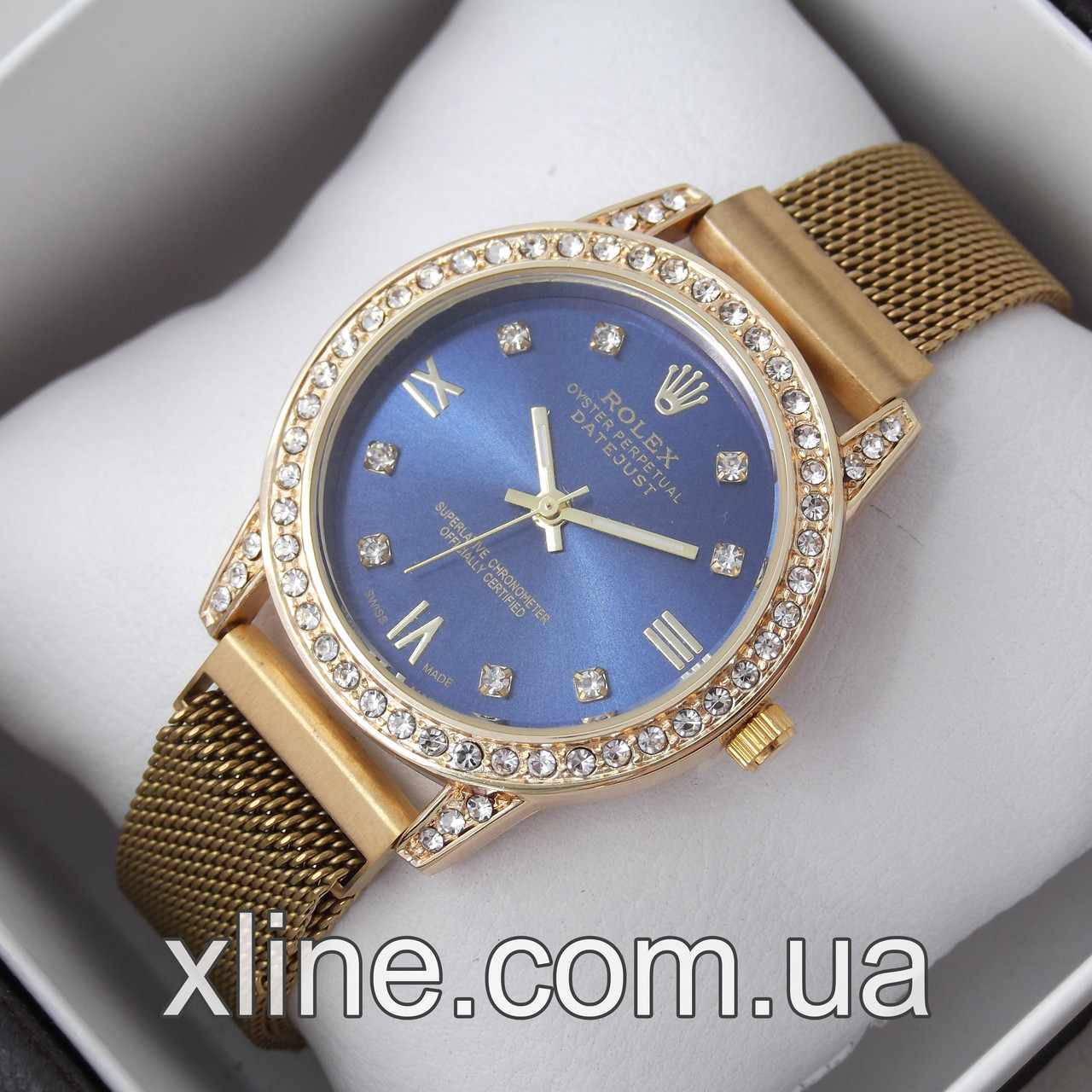 Жіночі наручні годинники Rolex C33-1 на металевому браслеті