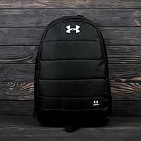 Стильный городской, спортивный рюкзак Under Armour. Отличное качество. Черный, фото 1