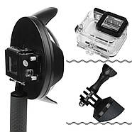 """Комплект SHOOT Dome Port 6"""" с блендой для GoPro Hero5/6/7 Black (подводный купол, аквабокс, ручка-поплавок), фото 3"""