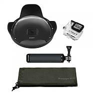 """Комплект SHOOT Dome Port 6"""" с блендой для GoPro Hero5/6/7 Black (подводный купол, аквабокс, ручка-поплавок), фото 5"""