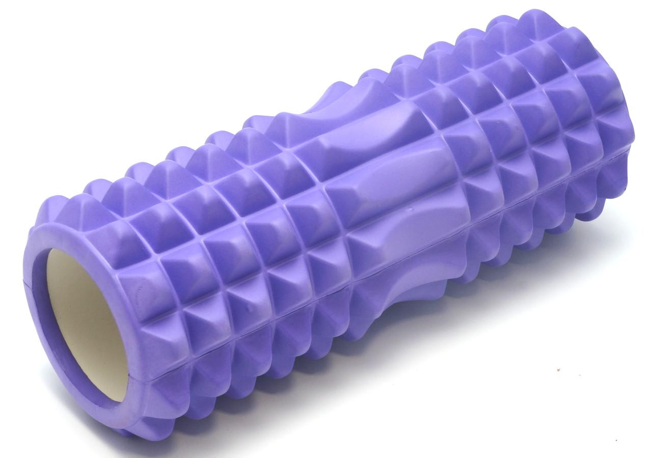 Массажный валик (ролик) Фиолетовый (33 х14 см) - MS 0857-4