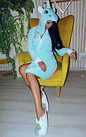 Халат Пижамы кигуруми голубой единорог kmy0114, фото 1