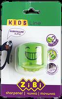 Точилка с контейнером, 2 отверстия, блистер, СМАЙЛ, KIDS Line, ZiBi