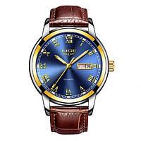 Мужские кварцевые часы Lige Classic