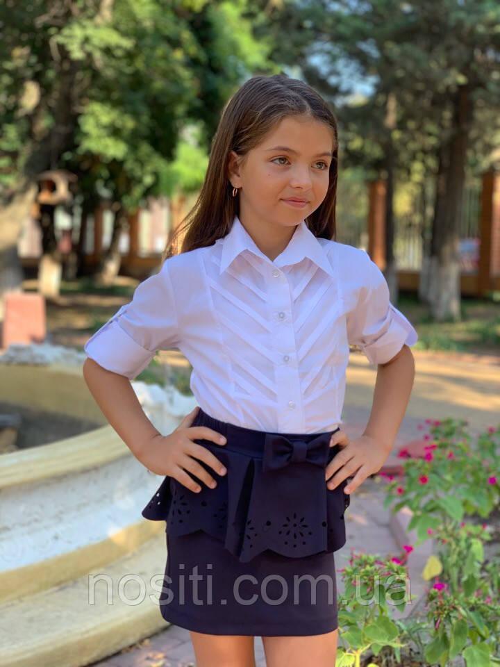 Блузка-рубашка на девочку с воротником