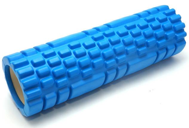 Массажный валик 45х14 см. (MS 1843-2BL) Синий, фото 2