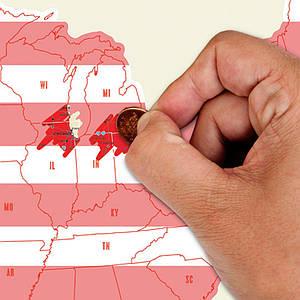 Скретч карта США Scratch Map USA Edition Fun Trip