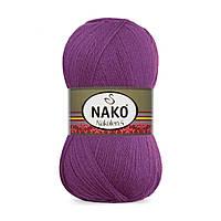 Пряжа Nako Nakolen 5 6637 фуксия (нитки для вязания Нако Наколен 5) 49% шерсть - 51% премиум акрил
