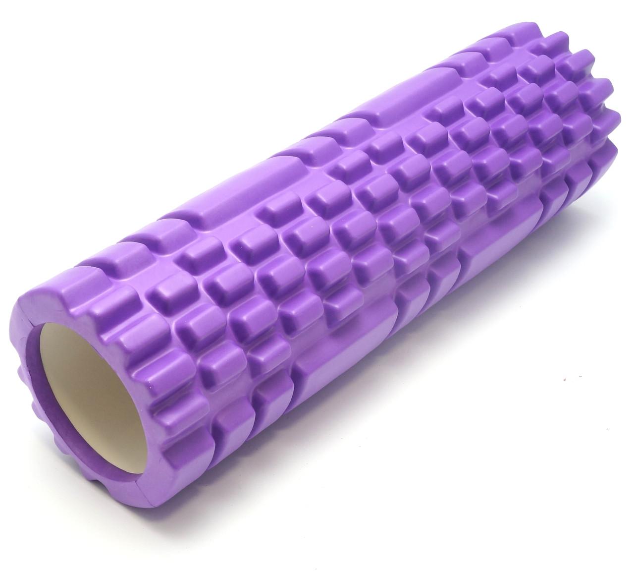 Массажный валик 45х14 см. (MS 1843-2F) Фиолетовый